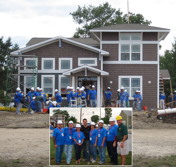 Nora lighting donates fixtures to abc tv 39 s heroes at home for Home makeover programs